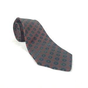 Kiton Napoli Mens Red Silk Tie Black Poka Dots